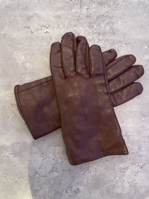 Guantes de cuero marrón-negro