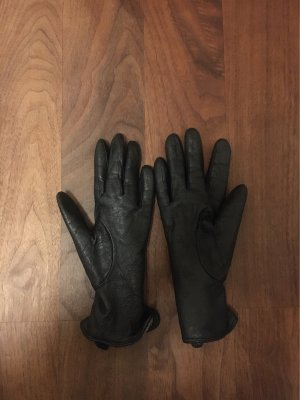 Leren handschoenen zwart bruin