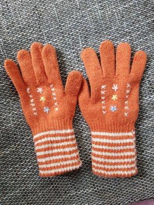 keine Gants en tricot orange foncé