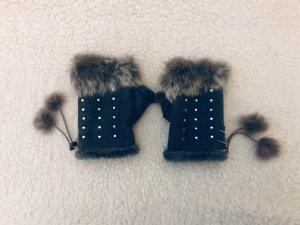 100% Fashion Handschoenen zonder vingers zilver-grijs