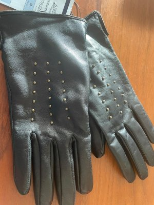Pearlwood Leather Gloves black