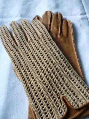 Gloves sand brown-cream