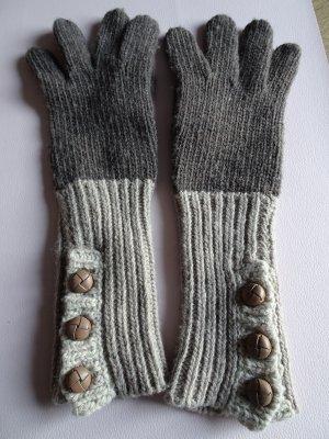 EMU Australia Gant à doigts brun-marron clair laine