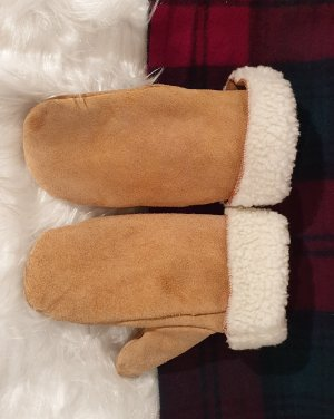 Mittens camel leather