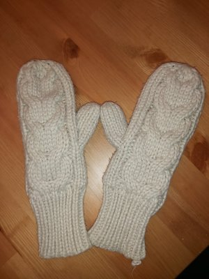 H&M Knitted Gloves natural white-cream