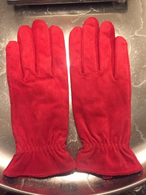 Gloves brick red