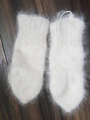 Fur Gloves white