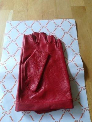 Rękawice bez palców ceglasty Skóra
