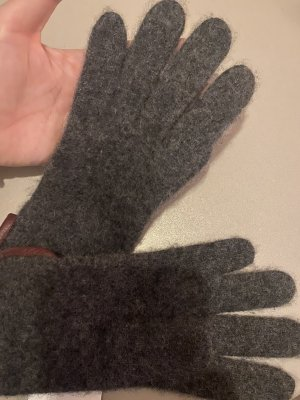 xxx Gants doublés gris-brun rouge