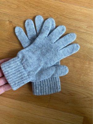 Made in Italy Guanto con dita grigio chiaro-grigio