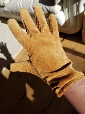ohne Marke Rękawiczki z imitacji skóry piaskowy brąz