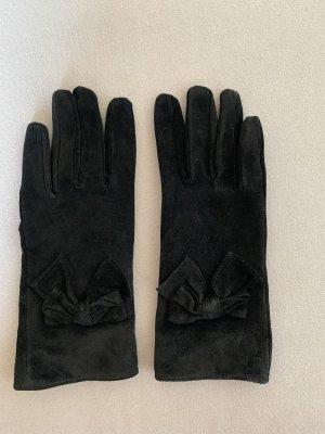 Gants en similicuir noir