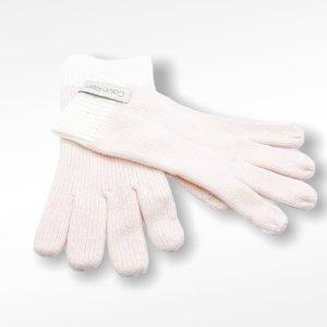 Calvin Klein Guantes con dedos blanco-rosa claro