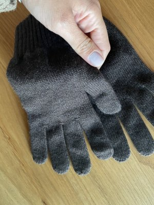 Fur Gloves multicolored cashmere