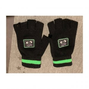 Fingerless Gloves black-green