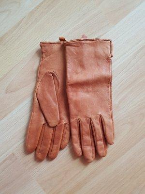 HM Leren handschoenen cognac
