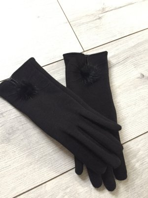 Handschuhe mit Echtfellpuschel