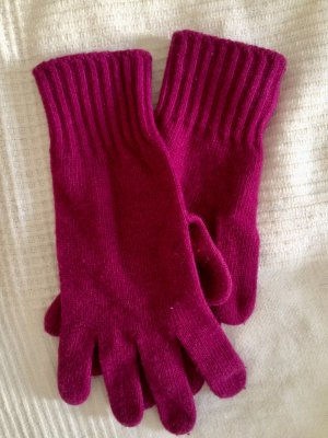 Benetton Knitted Gloves purple wool