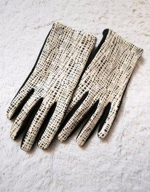 Roeckl Leren handschoenen zwart-wolwit