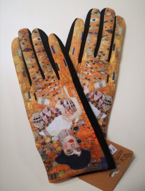 Handschuhe mit Touchscreenfunktion in Veloursoptik