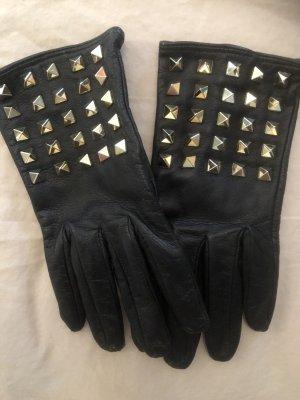 Valentino Leren handschoenen zwart