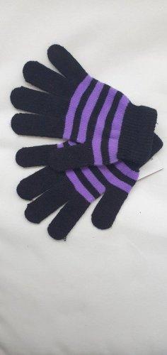 Guantes con dedos negro-lila