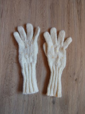 Knitted Gloves natural white