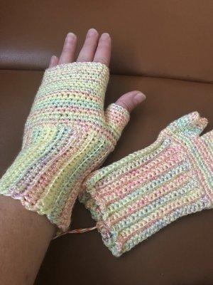 Unikat Einzelstück Handschoenen zonder vingers veelkleurig