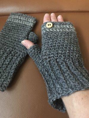 Unikat Einzelstück Handschoenen zonder vingers grijs-antraciet