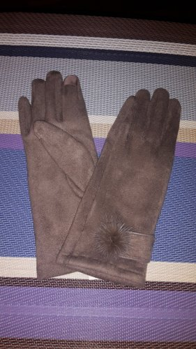 Faux Leather Gloves beige