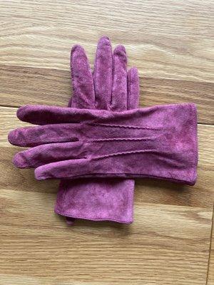 OVS Leren handschoenen framboosrood