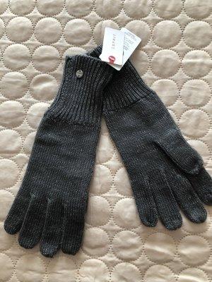 edc by Esprit Gloves dark grey-silver-colored