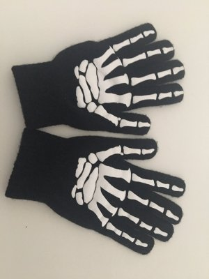 H&M Gloves black-white
