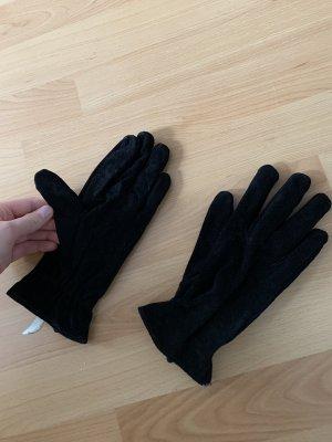 Pieces Rękawiczki z imitacji skóry czarny