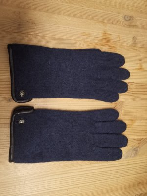 Roeckl Gloves black-dark blue wool