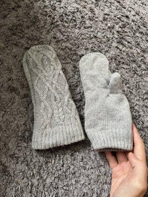 keine Fingerless Gloves light grey-grey