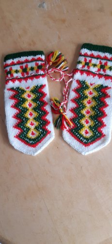 Handschoenen zonder vingers wolwit Wol