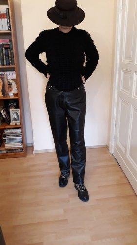 Biba Pantalone in pelle nero Pelle