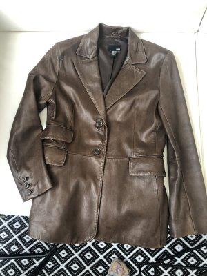 H&M Blazer en cuir brun