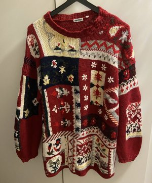 Inzy Handstrick Pull en crochet multicolore