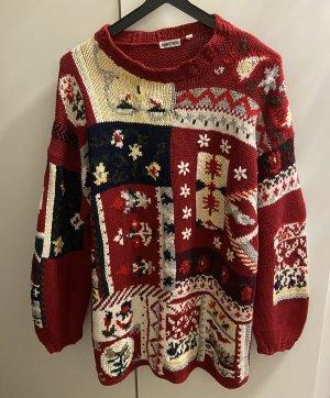 Handstrick Pullover Gr. 40 Strickerei