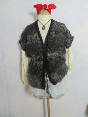 Handstrick Weste - Wolle Strickjacke - Grobstrick Seelenwärmer aus warmer Wolle - Größe M L NEU!