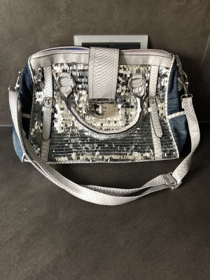 Bowling Bag steel blue-silver-colored