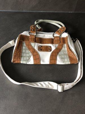 Bowling Bag oatmeal-brown imitation leather