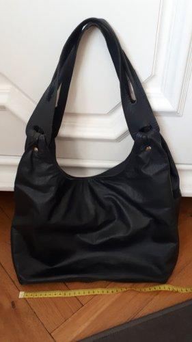 Shoulder Bag steel blue leather
