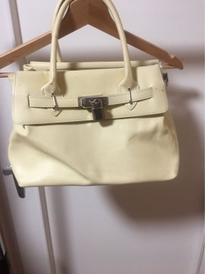 Borse in Pelle Italy Carry Bag pale yellow