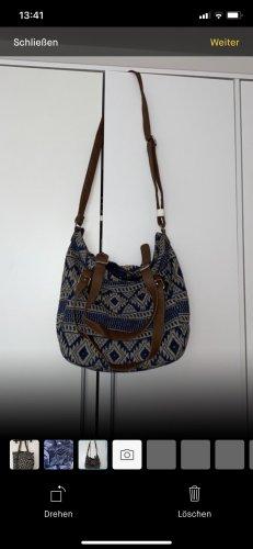 Colins Handbag camel-dark blue