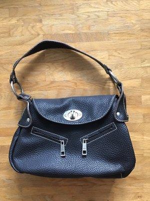 Mango Handbag black-silver-colored