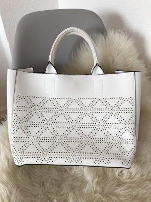 Bolso con correa blanco