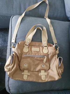 Airfield Handbag gold-colored-grey brown